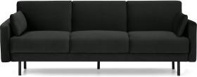 An Image of Delphi Click Clack Sofa Bed, Dark Anthracite Velvet