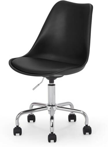 An Image of Deon Office Chair, Black with Chrome Legs