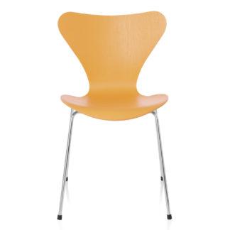 An Image of Fritz Hansen Series 7 Chair Egyptian Yellow Coloured Ash