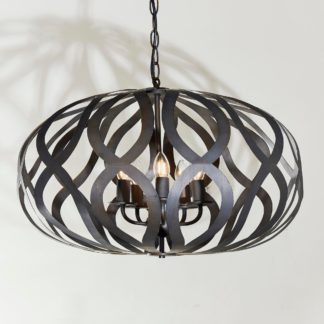 An Image of Vogue Bamberg 5 Light Pendant Fitting Bronze