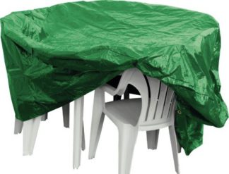 An Image of Argos Home Oval Patio Set Cover