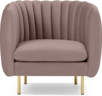 An Image of Helma Accent Armchair, Pearl Pink Velvet