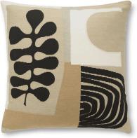 An Image of Onadowan Embriodered Cushion, 50 x 50cm, Neutral
