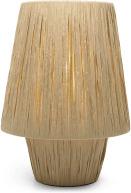 An Image of Karel Bedside Table Lamp, Natural Raffia