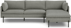 An Image of Zarina Right Hand Facing Chaise End Sofa, Mole Grey Weave