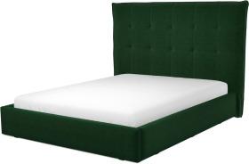 An Image of Lamas King Size Ottoman Storage Bed, Bottle Green Velvet