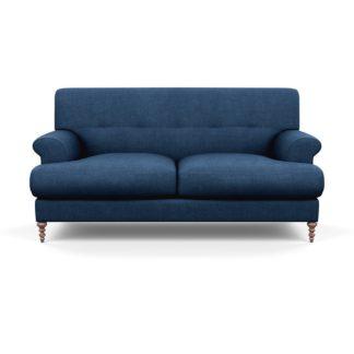 An Image of SCP Oscar 2 Seater Informal Sofa Capelo Linen-Cotton Ink Spot Walnut Feet