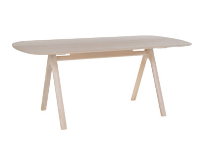 An Image of Ercol Corso Medium Dining Table Whitened Ash