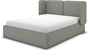 An Image of Ricola Super King Size Ottoman Storage Bed, Wolf Grey Wool