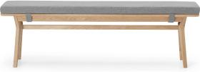 An Image of Jenson Dining Bench, Oak & Mountain Grey