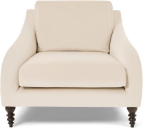 An Image of Andrin Armchair, Natural Eco Velvet