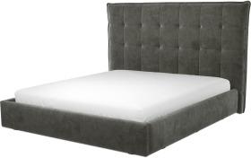 An Image of Lamas Super King Size Ottoman Storage Bed, Steel Grey Velvet