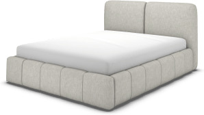 An Image of Maxmo King Size Bed with Storage Drawers, Ghost Grey Cotton