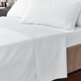 An Image of Hotel Egyptian Cotton 230 Thread Count Sateen Flat Sheet White