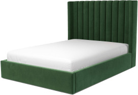 An Image of Cory Double Ottoman Storage Bed, Lichen Green Cotton Velvet