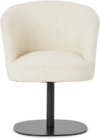 An Image of Revy Office Chair, Whitewash Boucle & Black