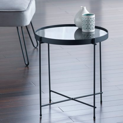 An Image of Boutique Oval Coffee Table - Black