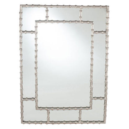 An Image of Metal Bamboo Mirror Silver
