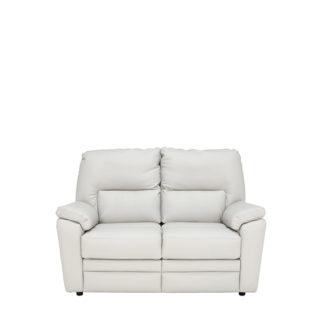 An Image of Teifi 2 Seater Leather Sofa Como Dove - Barker & Stonehouse