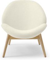 An Image of Laluni Accent Armchair, Whitewash Boucle