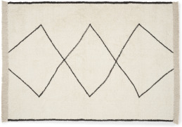 An Image of Fifie Berber-Style Wool Rug, Extra Large 200 x 300cm, Off White