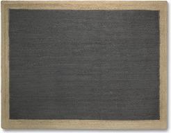 An Image of Granico Jute Border Rug, Large 160 x 230cm, Charcoal & Natural