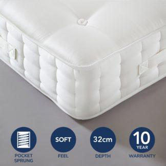 An Image of Dorma Centenary Soft 5000 Pocket Sprung Mattress Off-White