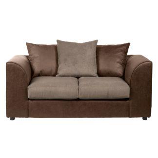 An Image of Blake Fabric Combo 2 Seater Sofa Chocolate (Brown)