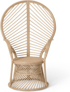 An Image of Elka Peacock Armchair, Cane