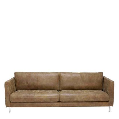 An Image of Lars 4 Seater Leather Sofa - Barker & Stonehouse