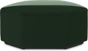 An Image of Zazie Modular 2-Part Pouffe, Tonal Green Velvet