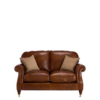 An Image of Parker Knoll Meredith Leather 2 Seater Sofa London Saddle - Barker & Stonehouse