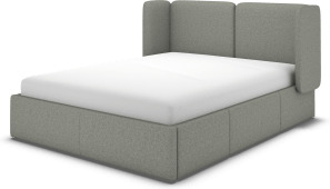 An Image of Ricola Super King Size Bed with Storage Drawers, Wolf Grey Wool