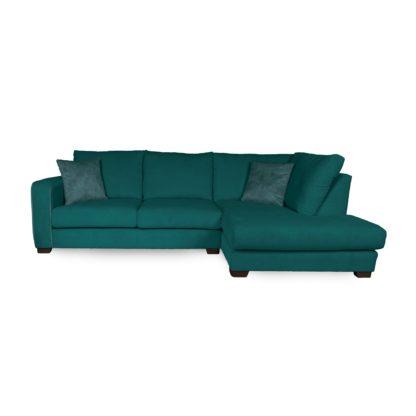 An Image of Carson Corduroy Right Hand Corner Sofa Emerald Green