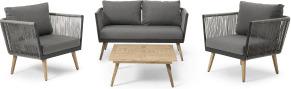 An Image of Garden Lounge Set, Grey
