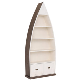 An Image of Berkshire Reclaimed Wood Boat Bookcase