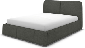 An Image of Maxmo King Size Bed with Storage Drawers, Granite Grey Boucle