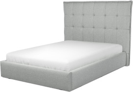 An Image of Lamas Double Ottoman Storage Bed, Wolf Grey Wool
