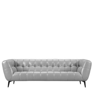 An Image of Azalea 3 Seater Leather Sofa - Barker & Stonehouse