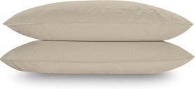 An Image of Alexia Stonewashed Cotton Pair of Pillowcases, Stone