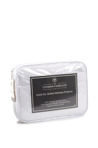 An Image of Quick Dry Quilted Pillow Protector Pair