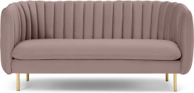 An Image of Helma 2 Seater Sofa, Pearl Pink Velvet