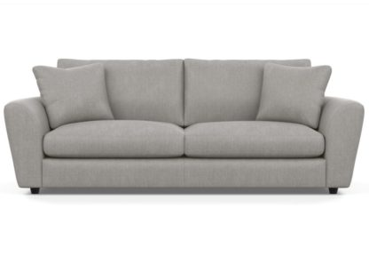An Image of Heal's Snooze 5 Seater Sofa Brushed Cotton Cadet Black Feet