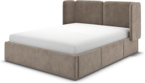 An Image of Ricola Double Bed with Storage Drawers, Mole Grey Velvet