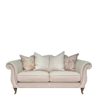 An Image of Drew Pritchard Atherton Pillow Back 3 Seater Sofa - Barker & Stonehouse