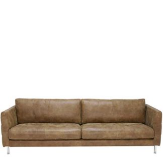 An Image of Lars 5 Seater Leather Sofa - Barker & Stonehouse