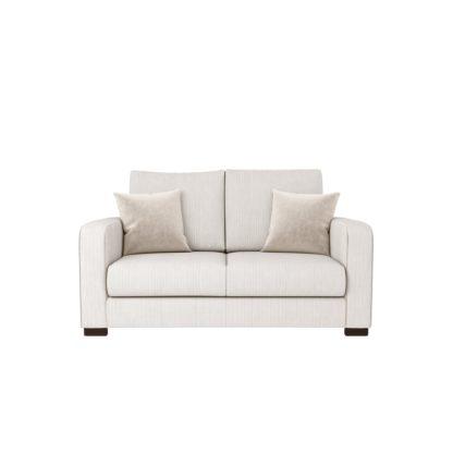 An Image of Carson Corduroy 2 Seater Sofa Emerald Green