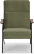 An Image of Merle Accent Armchair, Sycamore Green Velvet