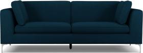 An Image of Monterosso 3 Seater Sofa, Elite Teal with Chrome Leg
