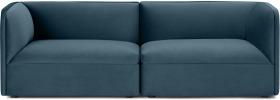 An Image of Torkel 3 Seater Sofa, Coastal Blue Velvet